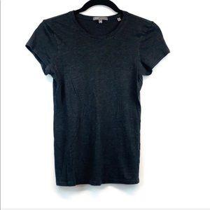 Vince Dark Gray Short Sleeve Crew Neck Tee Shirt